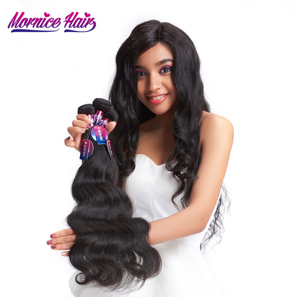 Mornice Hair Brazilian Virgin Hair Body Wave 1 Bundle Unprocessed Human Hair Bundles Weave Natural Black Free Shipping 100g