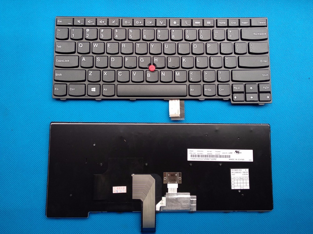 New Original Laptop Keyboard Lenovo ThinkPad T431S T440 T440P E431 E440 T440S 04Y2874 04Y0824 04X0101 English keyboard new 14hd laptop lcd screen 30pin original for lenovo thinkpad t440 t440p t440s t431s led display 1600 900 04y1584 n140fge ea2