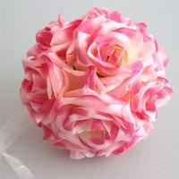 1pcs 15cm Artificial Silk Flower Rose Kissing Balls Bouquet