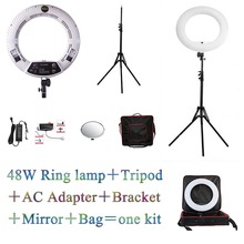 YidobloWhite FS-480II 5500K Dimmable Camera Photo/Studio/Phone/Video 18 48W 480 LED Ring Light LED Lamp+ 2M tripod +Soft bag Kit