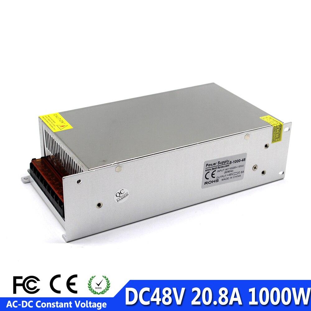 1000W 48V 20A Single Output Switching power supply Driver Transformers 110V 220V AC to DC48V smps