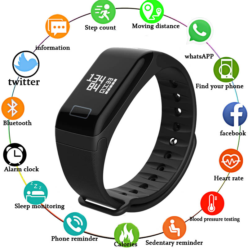 Smart Watch Men Sports Bracelet Pedometer Heart Rate Blood Pressure Wristband IP67 Waterproof Fitness Stopwatch for Android IOS цена 2017