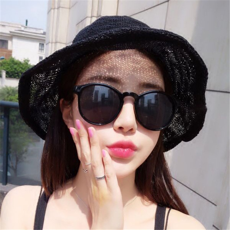 Summer New Style Hat Lady Cotton Collapsible Sun Protection Hat Outdoor Travel Casual Beach Bucket Hats ACF17 (3)