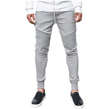 INCERUN Mens Bodybuilding Sweats Pants Casual Joggers Solid Plain Sweatpants Slim Fit Workout Trousers Men Male Sportwear Slacks