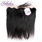 Fabbabes Hair Brazilian Straight Lace Frontal Closure 13*4 Ear to Ear Free Part Closure 130% Destiny Remy Hair Free Shipping