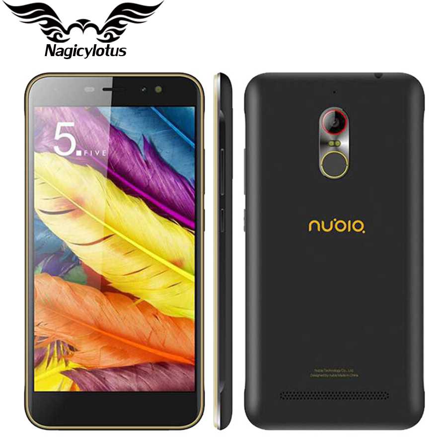 In stock Nubia N1 Lite NX597J 5.5 inch 4G LTE Mobile Phone MT6737 Quad Core 2G RAM 16GB ROM 13MP 3000mAh Android 6.0 Fingerprint