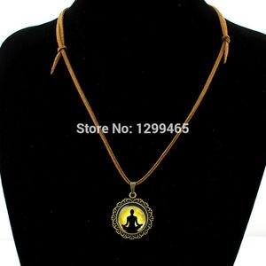 Image 2 - Collier Collares Maxi Necklace Om Yoga Muslim Zen Necklace Mandala Religious Culture Jewelry Henna Buddhism Meditation Pendant