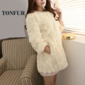 100% Real Rabbit Fur Coat Nature Top Sale Rabbit Fur Jacket Genuine Fur Overcoat Factory Outlet Wholesale OEM Fur FP932
