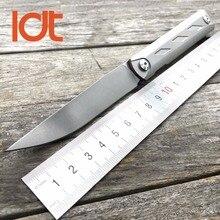 LDT Zieba Tactique Couteau Pliant ZDP189 Lame Titane Poignée Roulement À Billes Camping Couteaux de Poche de Survie En Plein Air Chasse Outils