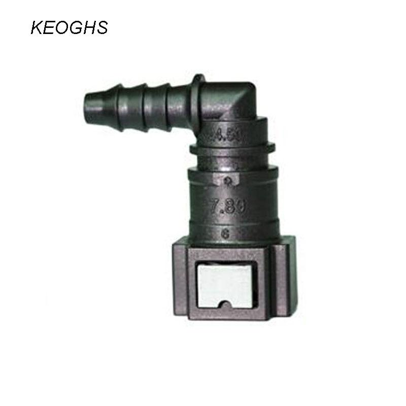 Acoplador de la manguera de la motocicleta Conector de la l/ínea de combustible Tuber/ía de nylon ID6 Macho 6.30 Longitud Recta Conector de conexi/ón de la l/ínea de combustible de liberaci/ón r/ápida