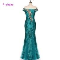 Floor Lengte Rood Blauw Mermaid Sequin Elegante Bloemen Dames Goedkope Lange Prom Dresses Party 2017 Plus Size Moeder van de Bruid B20