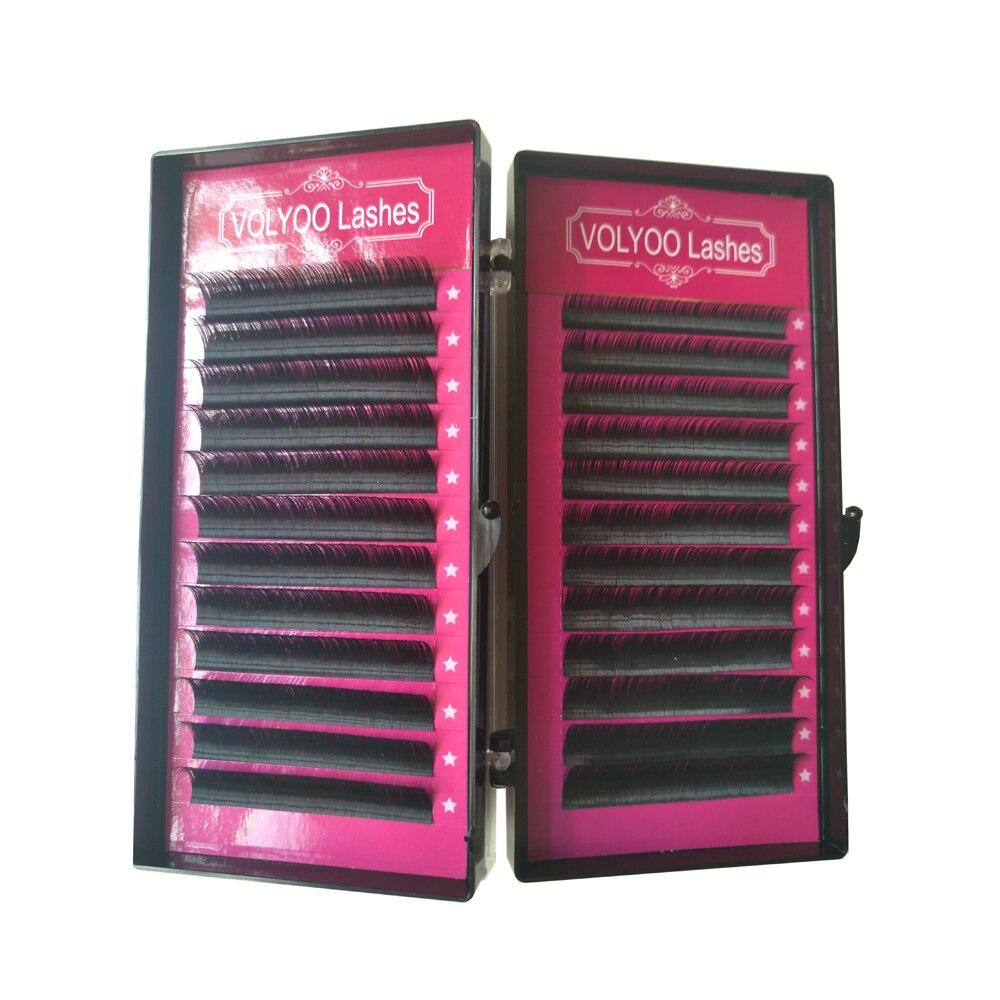 VOLYOO lashes 0.10 D faux false mink hair silk lashes russian lashes eyelash extensions false fake eyelashes lash makeup