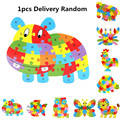 Baby Wooden Animal Puzzle Numbers Alphabet Jigsaw Educational Toys Gifts