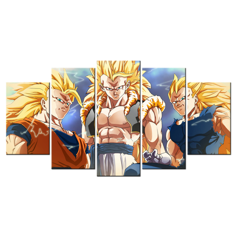 Wall decor canvas painting dragon ball z picture canvas for Dragon ball z living room