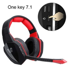 HUHD 2018 HW-S8 Wireless Headphones PC Gamer Game Headset USB 7.1 Virtual Surround Sound Stereo Bass Gaming Headphone with Mic