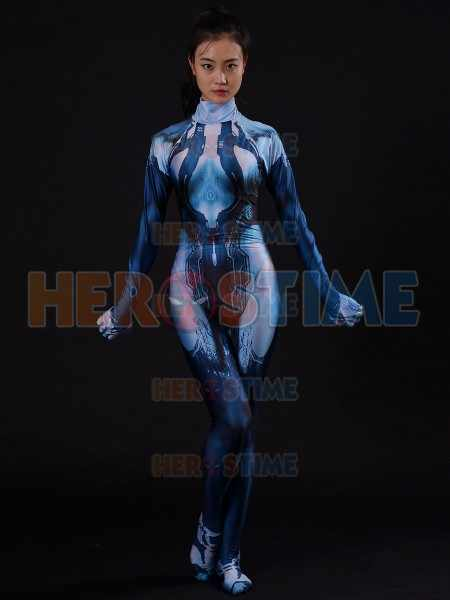 Halo Cortana Costume Video Game Girl Cortana Cosplay Suit 3d