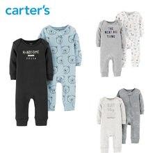 Carters 2 unids lote monos lindo bebé niña de manga larga de algodón suave bebé  recién nacido Ropa de niño conjunto 126H458  126. 33568f215b4