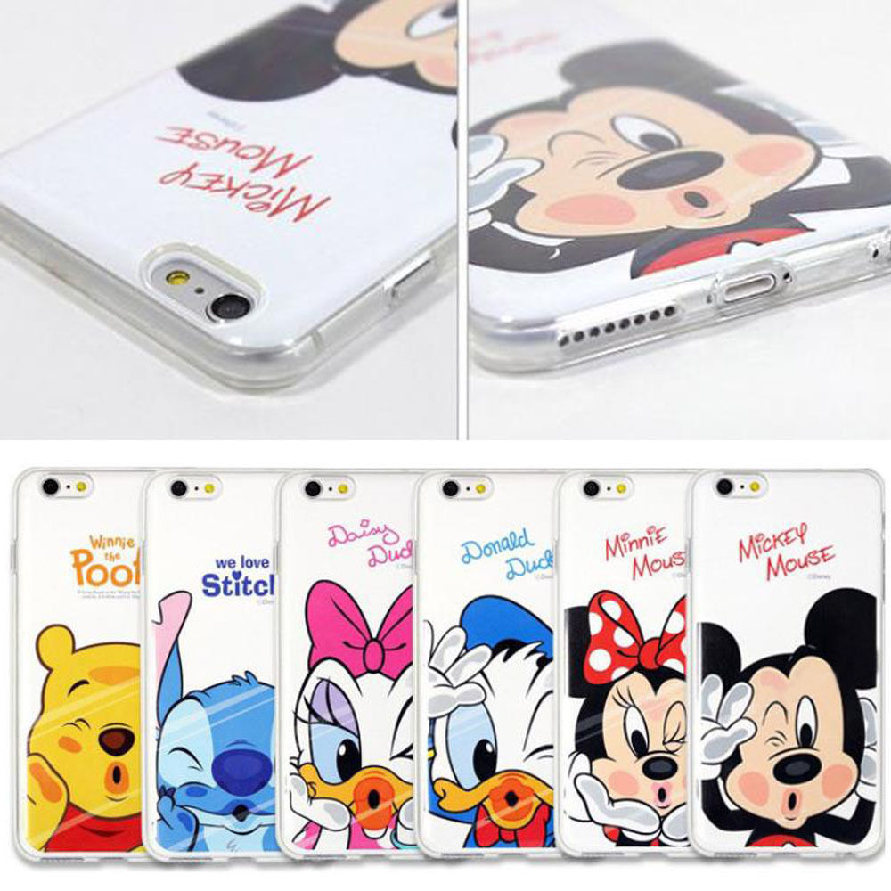 Cartoon Soft TPU Cover Case For Apple iPhone X 7 8 5 5s SE 6 6s 7 Plus 8 Plus Mickey Minnie Mouse Donald Daisy Duck Pooh Stitch