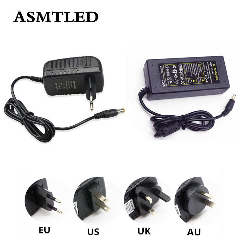 ASMTLED EU/US/AU/UK Plug Power Adapter Ladegerät AC 100-240 V zu DC 12 V 1A 2A 3A 4A 5A 6A 7A 8A LED Streifen Netzteil Buchse