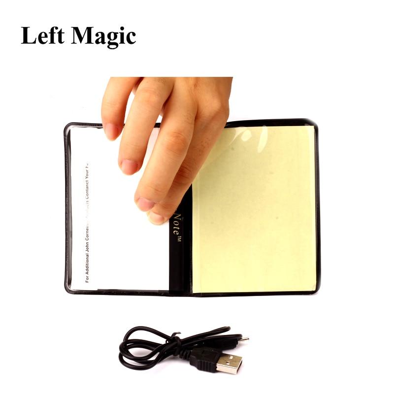 Light Prediction Holder (Charged Version) - Magic Tricks Optical Prediction Wallet Magic Props Close Up Magic Mentalism Comedy