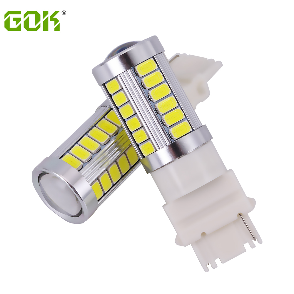 2pcs Car led bulb 3156 3157 led T25 3156 33SMD 5730 White light Brake Light Backup Reverse Light Parking Turn Signal  headlight 3157 3156 60w 600lm 6500k 12 smd white light led steering brake light for car dc12 24v