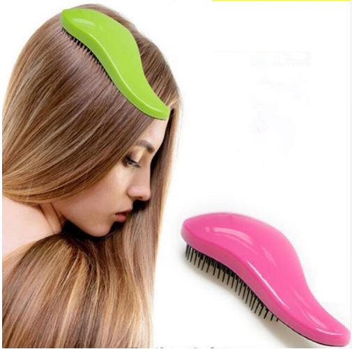 Anti-static HairBrush Comb Styling Tools Shower Electroplate Detangling Massage Hairbrush For Salon Styling Women Girls Combs
