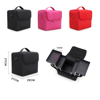 High Quality Professional Makeup Cosmetic Bag Large Capacity Storage case Multilayer Suitcase 4