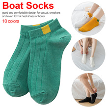 High Quality Unisex Comfortable Stripe Cotton Socks Fashion Woman Slippers Low Cut Ankle Short