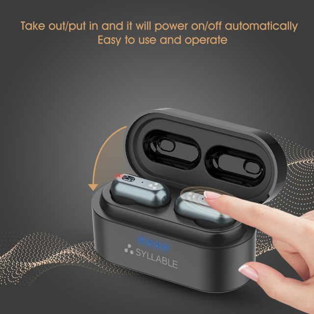 Original SYLLABLE S101 bluetooth V5.0 bass earphones wireless headset noise reduction SYLLABLE S101 Volume control earbuds 4