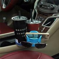 Multi Function Car Phone Holder Storage Box Drink Cup Holder Auto Sunglasses Holder Car Organizer for Coins Keys Phone Stand