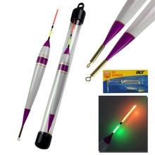 1Pcs 4g-11g #1~#3 LED Fishing Float Balsa Wood Lighting Electronic Saltwater Luminous Glow Buoy pesca