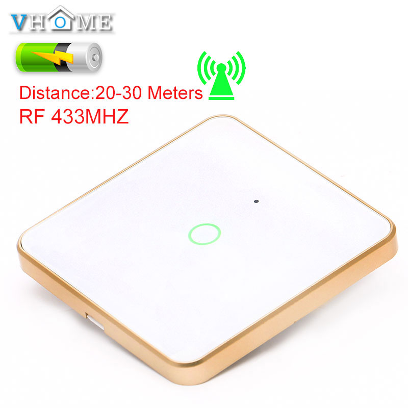 VHOME Universal <font><b>RF433Mhz</b></font> 86 Wall Panel Wireless Remote Control Switch Transmitter Touch Remote For Bedroom Ceiling Light Lamp image