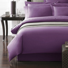Plain rozene 1200 thread count King Queen size special Egyptian cotton flat sheet bedding set light purple color