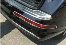 De alta Calidad Para Audi Q7 2016 2017 marco ABS Chrome Rear Fog Lamp Light Ajuste de La Cubierta 2 unids