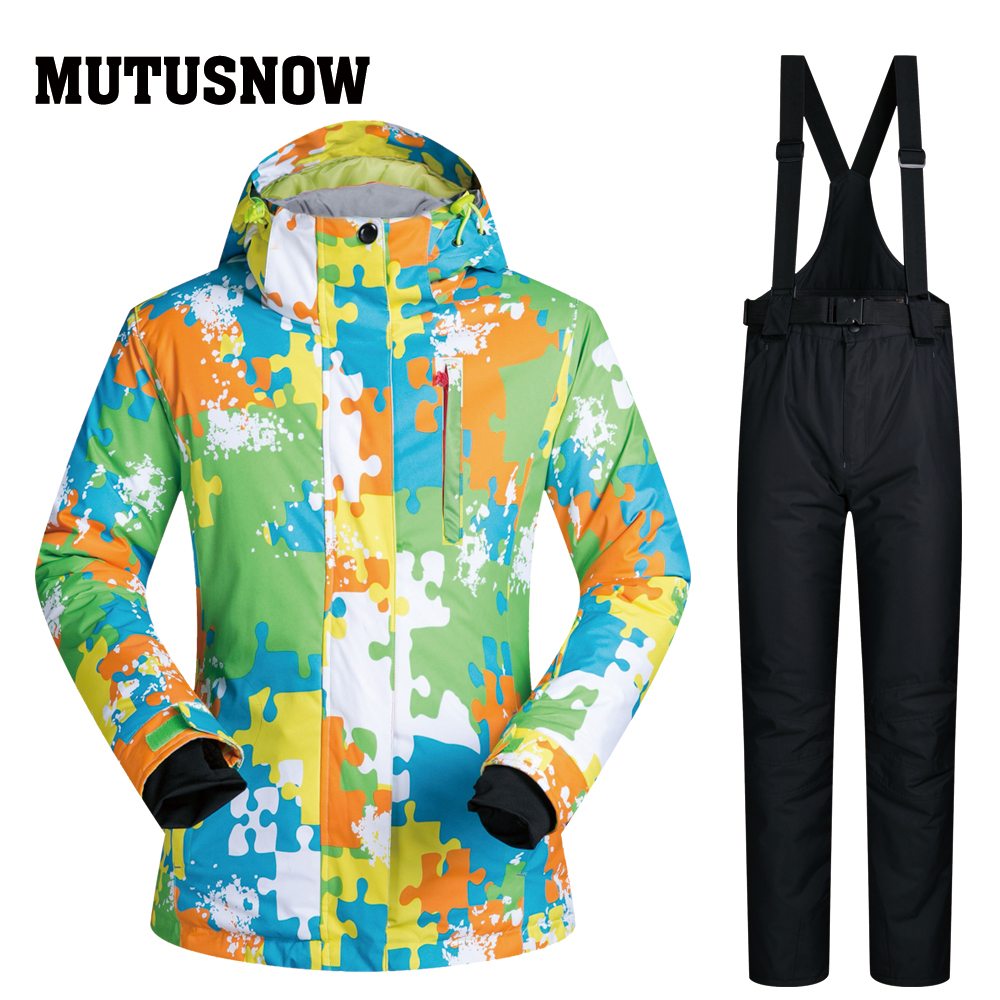 MUTUSNOW High Quality Men Ski Suit Male Outdoor Snow Jackets Pants Windproof Waterproof Snowboard Suit Winter Ski Jackets Brands
