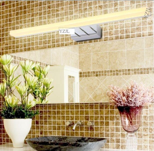 Waterproof led anti-fog mirror lamp Bathroom simple modern wall mirror cabinet light vanity mirror lamps 40cm 12w acryl aluminum led wall lamp mirror light for bathroom aisle living room waterproof anti fog mirror lamps 2131