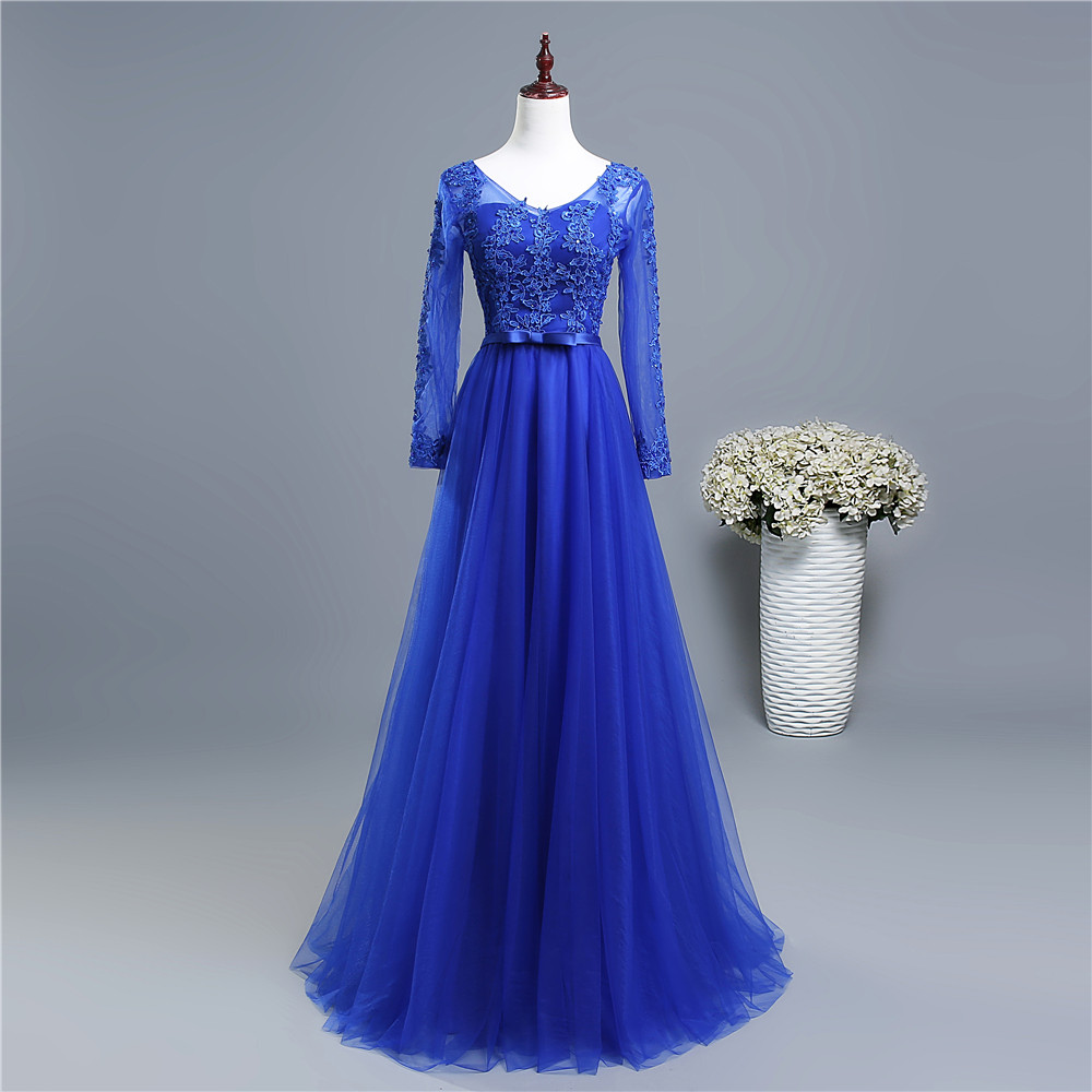 ZJ6006 Pretty Girl Wiht Sleeve Purple Grey Royal Blue Elegant Party Plus Size 2018 Formal Plus Size Mother Of The Bride Dresses