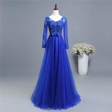 ZJ6006 pretty girl wiht sleeve purple grey royal blue elegant party plus size 2018 formal plus size