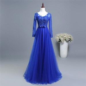 ZJ6006 bella ragazza wiht manica viola grigio blu royal elegante partito più il formato 2018 formale più il formato Madre di la abiti Da sposa(China)