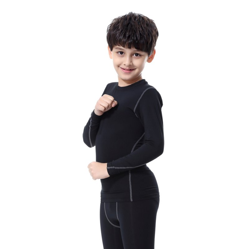 цена на Kids Boys Girls Compression Base Layer Skins Tee Thermal T- Shirt Quick-drying Clothes