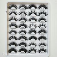 25 коробка норковые ресницы натуральные длинные 3d норковые ресницы ручной работы накладные ресницы 3d ресницы для макияжа maquiagem