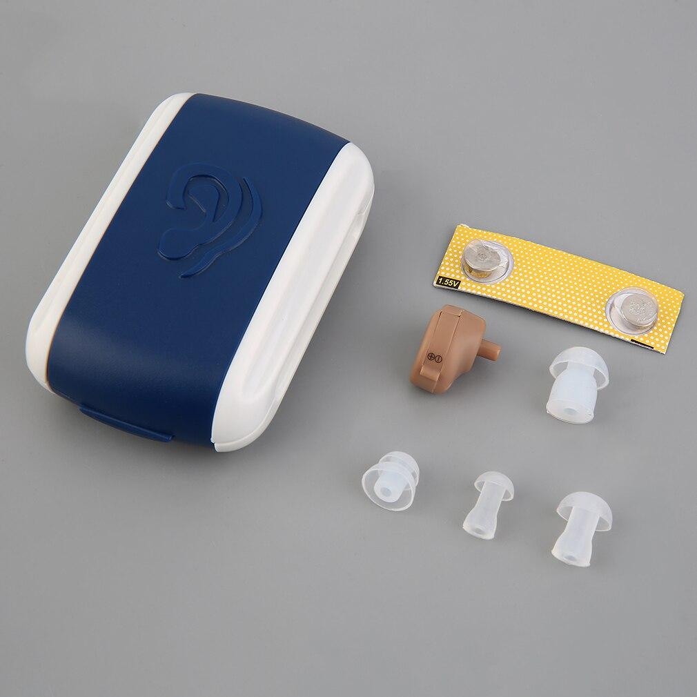 Alta calidad nuevo audífono portátil pequeño Mini amplificador de sonido Personal en el oído tono volumen ajustable audífonos cuidado