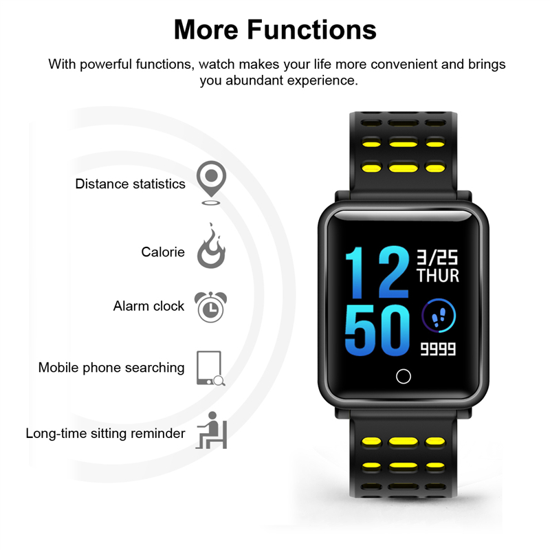 Fashion Color SmartWatch Support Heart Rate / Blood Pressure / Calorie Monitor 1