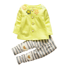 Infant Autumn Christmas Thicken Tracksuits Baby Girl Clothing Set Children Cotton Sweatshirts Jacket Stripe Pant Kids Skirt Suit
