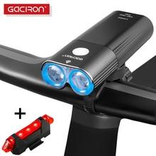 GACIRON 400~1800 LM Bicycle Light PRO Bike Headlight With taillight USB Power Bank IPX6 Flashlight MTB Road Bike LED Flash Lamp