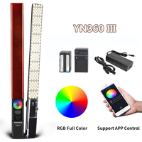 YONGNUO YN360 III YN360III Bi color Handheld LED Video Light Touch Adjusting 3200k 5500k RGB ColorTemperature with Remote