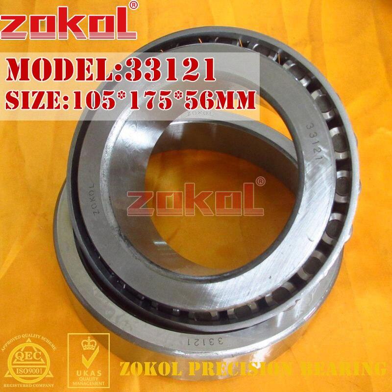 ZOKOL bearing 33121 3007721E Tapered Roller Bearing 105*175*56mm zokol bearing 32915 2007915e tapered roller bearing 75 105 20mm