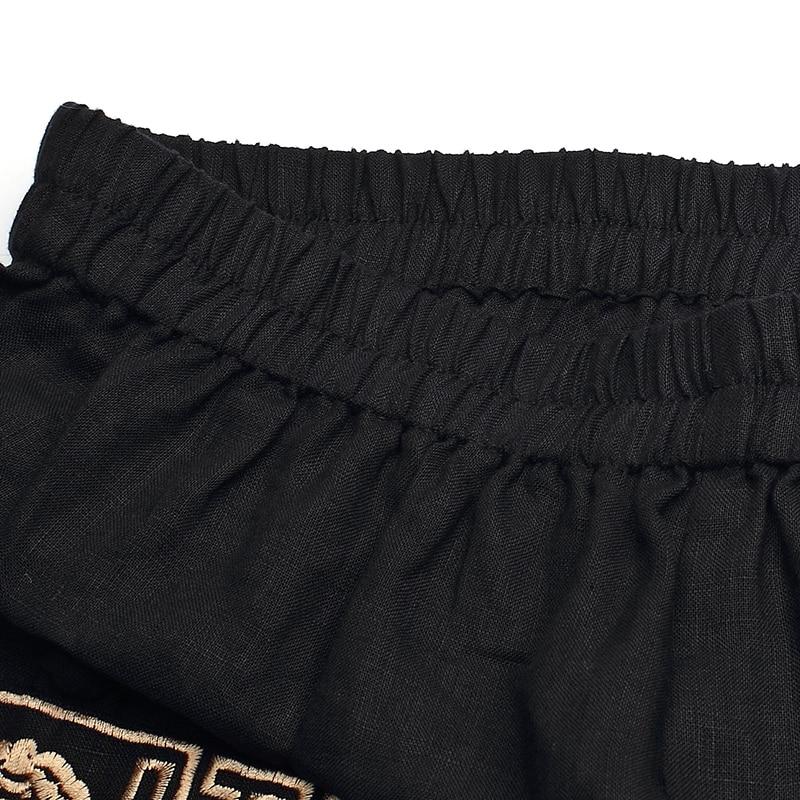 Black Élastique Linge Patch Femmes Lâche Pantalon red Cheville Hearm Sping Broderie L171k002 longueur Vintage Contour La Plus Taille fa6xpx