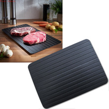 Defrost plate Tray rapid Thaw Frozen Food Meat Fish In Minutes Home fast defrosting tray No Electricity Chemicals Microwave