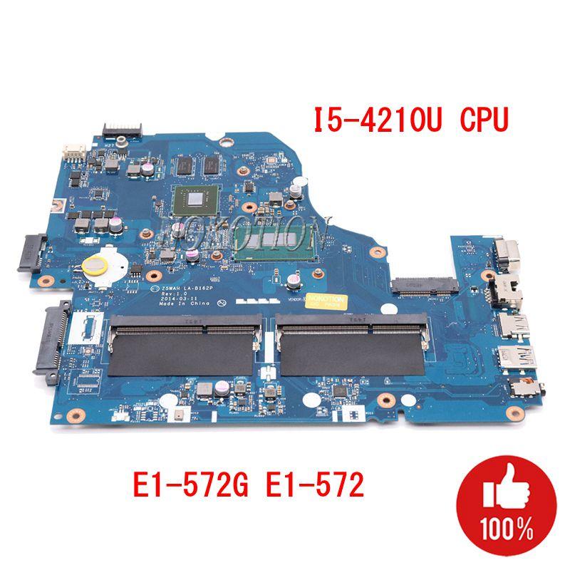 NOKOTION Z5WAH LA-B162P Laptop Motherboard For Acer Aspire E1-572G E1-572 I5-4210U CPU 820M GPU DDR3 NBMLB11004 NB.MLB11.004